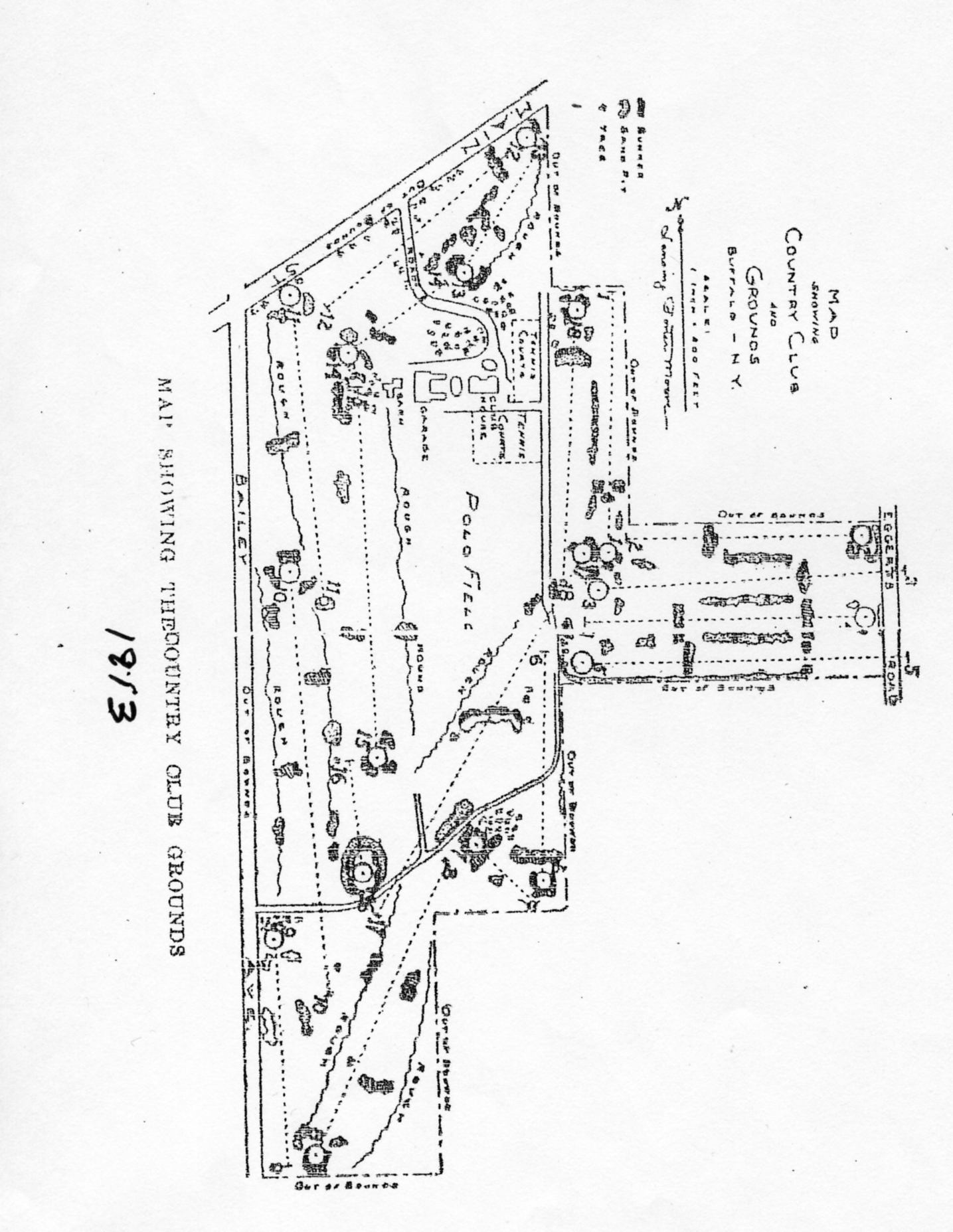 Travis Course Drawings The Walter J Travis Society - Us open course map